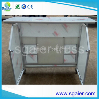 Portable Folding White Acrylic Board Bar Counter Table