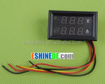 Dc 4.5-30v 0-100a Dual Led Digital Volt Meter Ammeter Voltage ...