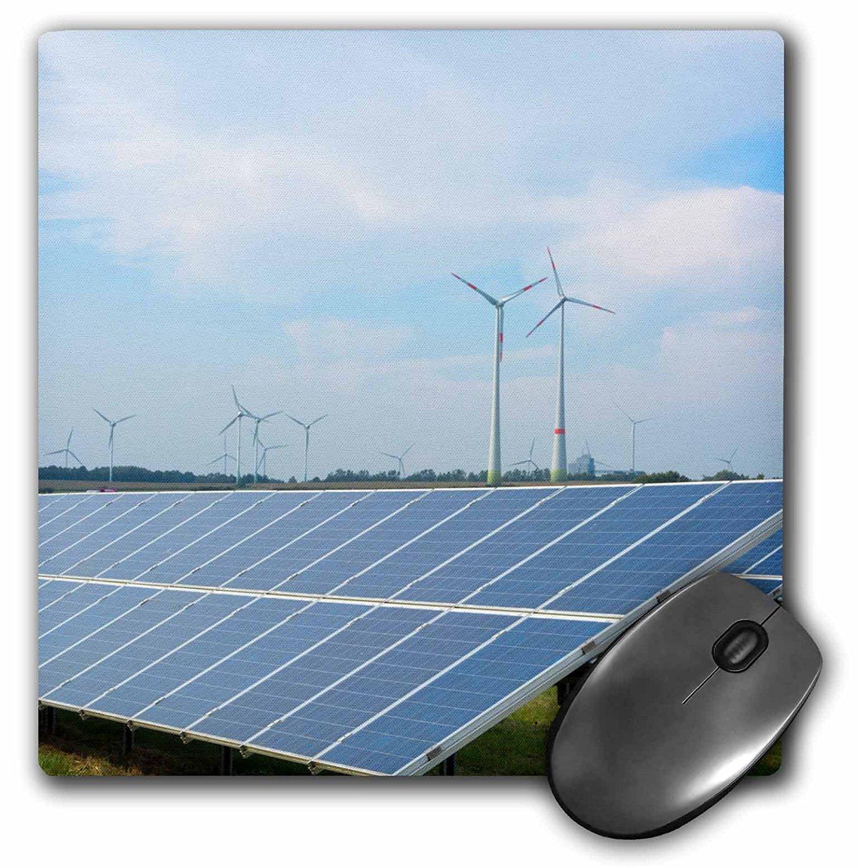 Danita Delimont - Germany - Germany wind energy turbines and solar panels in field, Hamburg - MousePad (mp_227343_1)