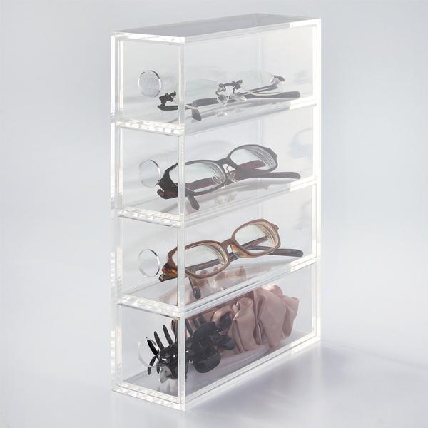 Modern acrylic flip top box 2 drawers wide acrylic cosmetic box organizer for sale buy acrylic - Organizer bagno ...