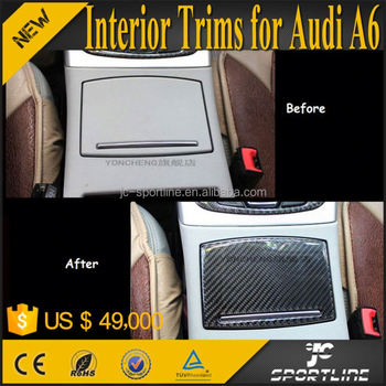Pcset Interior Trims Carbon Fiber A Interior Decoration Parts For - Audi a6 parts