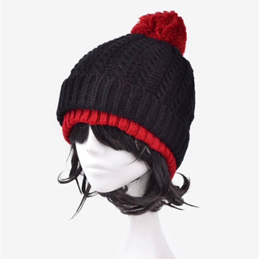 0f078168b94 Get Quotations · Kawaii Winter Beanie Warm Cute Double Layer Woolen Knitted Women  Cap Winter Beanie Headgear Headdress Head