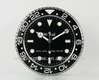 modern design metal round wall clocks with luminous hands