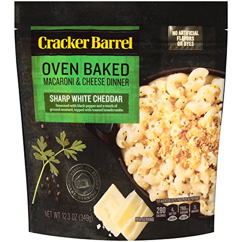 Cracker Barrel Oven Baked Macaroni & Cheese Dinner, Sharp White Cheddar, 12.34 Ounce