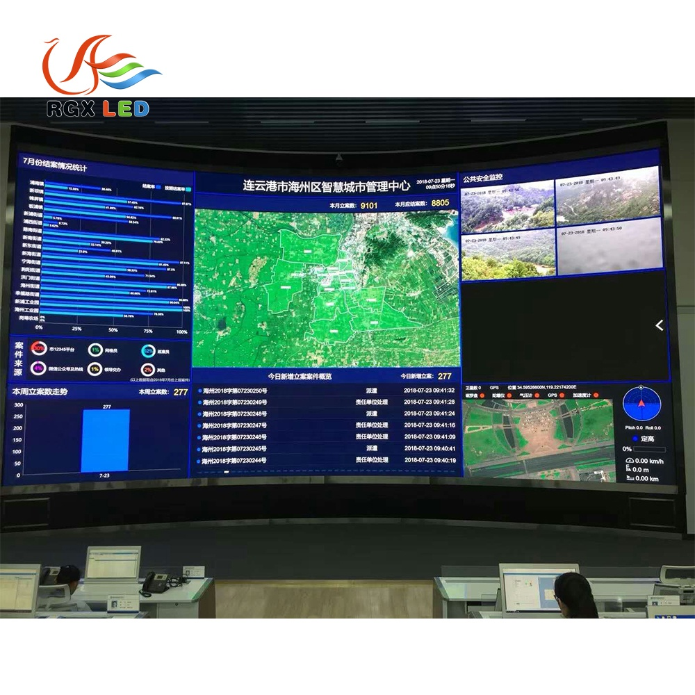 Indoor Monitoring Hall Small Pixel Led Display Screen Outdoor Led Large Screen Display LED Panel Video Wall For Camera