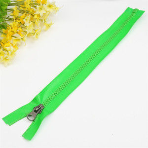Green Separating plastic zipper for women kids sports suit,double sided magnetic zipper