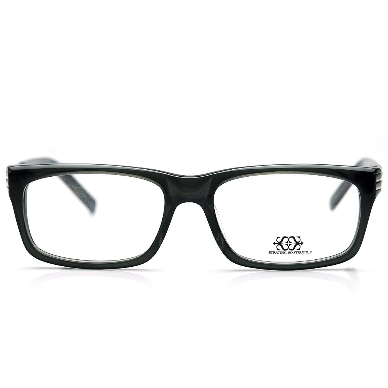 New Pensee Eyeglasses Prescription Black Rectangle Optical Frame 56mm Demo Lens