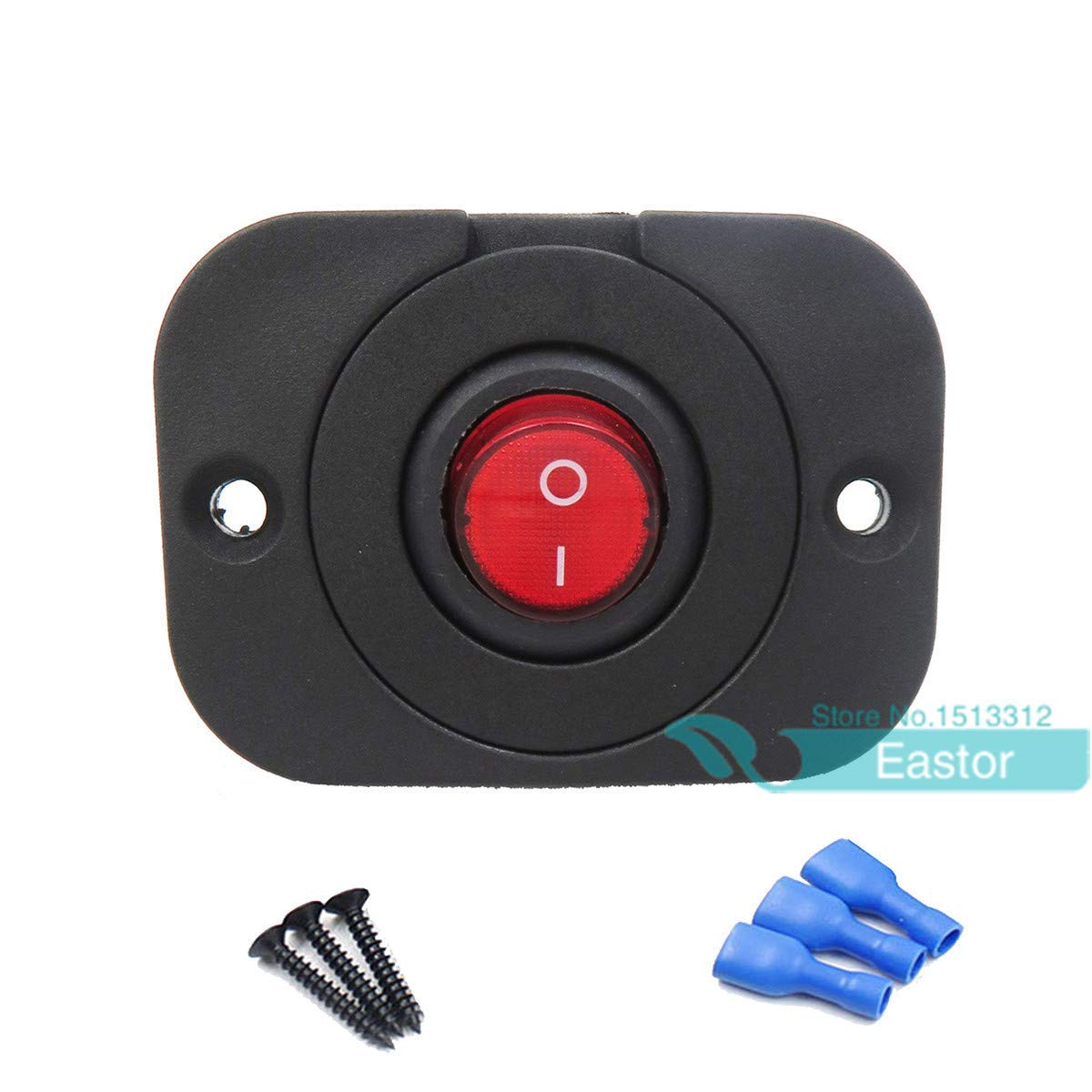 Pactrade Marine 20 Blue LED Light 12V 30A ON-OFF Rocker Switch For Auto Boat RV