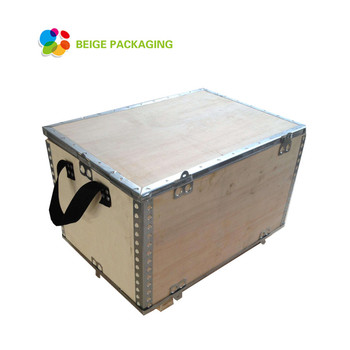 Hot sale foldable wooden shipping box for storage