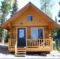 Fast build prefab log cabin