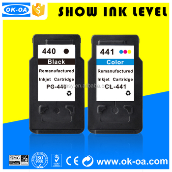compatible inkjet cartridge 440 441 show ink level for Canon printer ink cartridge