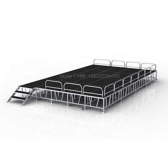 4 x 8 feet outdoor mobile event <strong>stage</strong> in stock for sale
