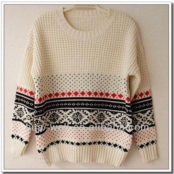 Women Round Neck Cashmere Knitting Patterns Jacquard Sweater Buy