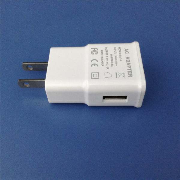 Wholesale US/EU/UK plug 5V 2A USB Wall Charger Adapter For Samsung/iphone Charger