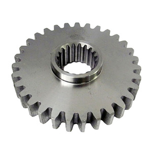 machined steel spur spline gear with hub