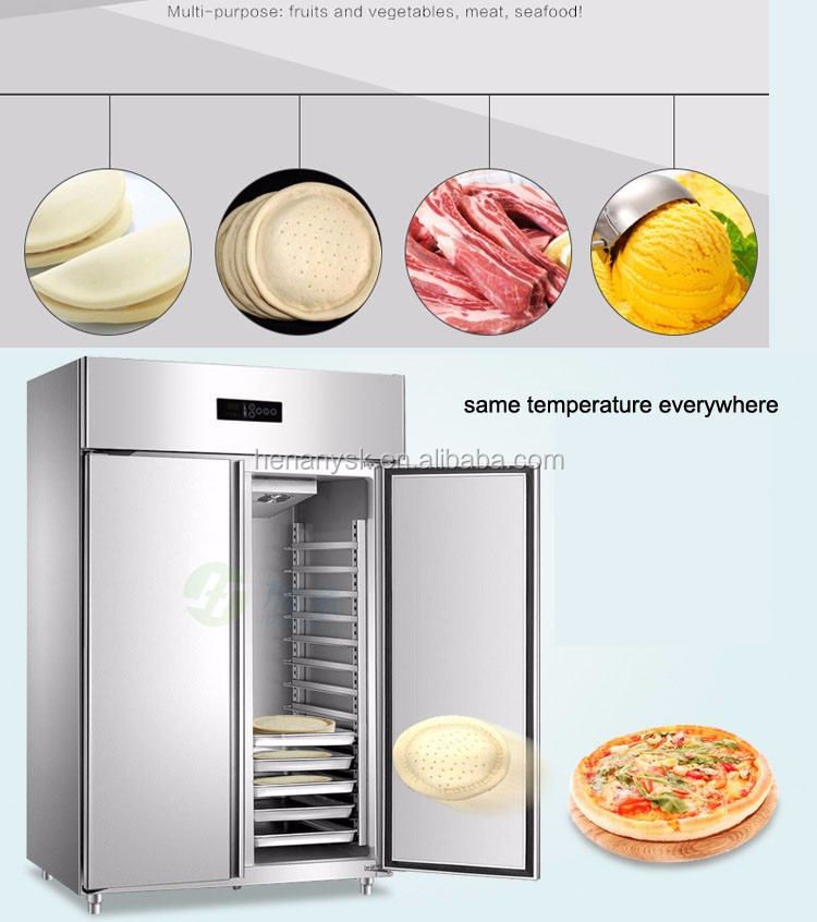 -18~-22 Luxury Stainless Steel Commercial Refrigerator Kitchen Fan Cooling Tray Cabinet Industrial Freezer