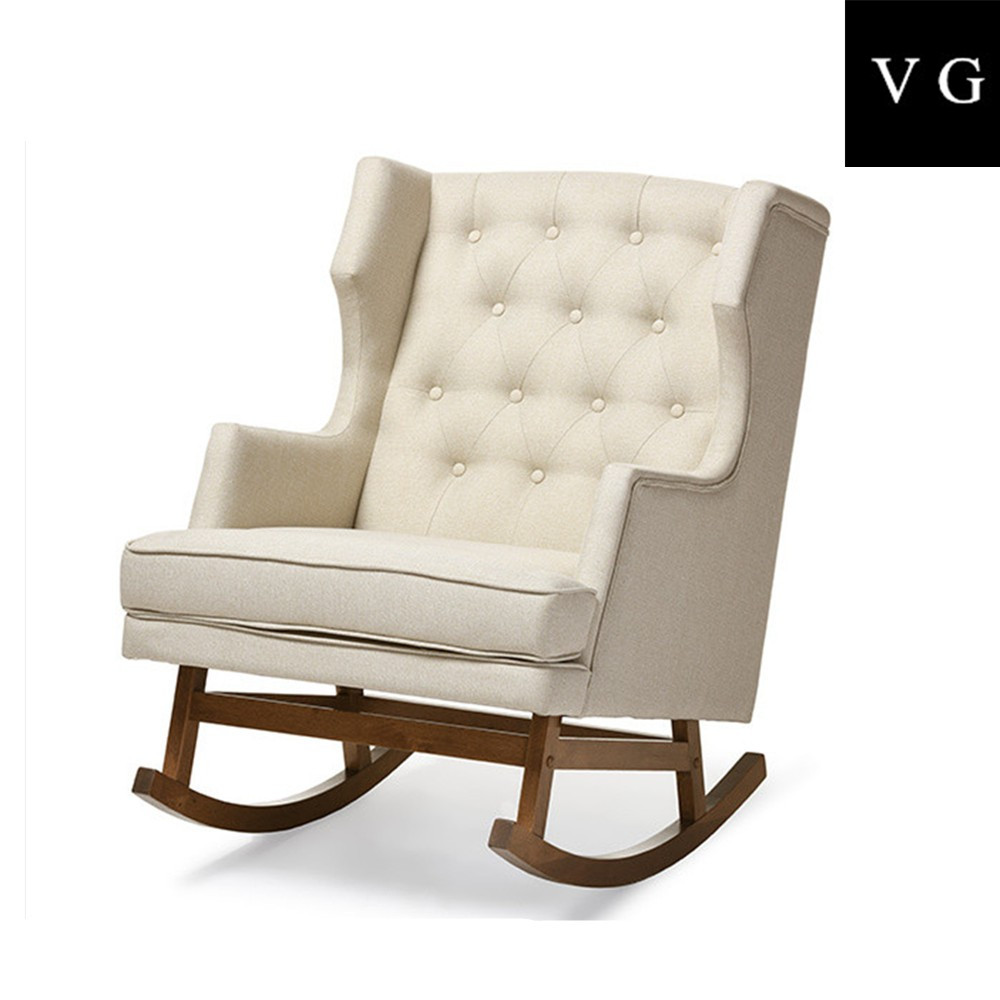 Superb Fully Upholstery New Italian Design Wingback Wooden Baby Rocking Chair For Nursery Buy Fully Upholstery Chair Italian Design Wingback Rocking Gmtry Best Dining Table And Chair Ideas Images Gmtryco