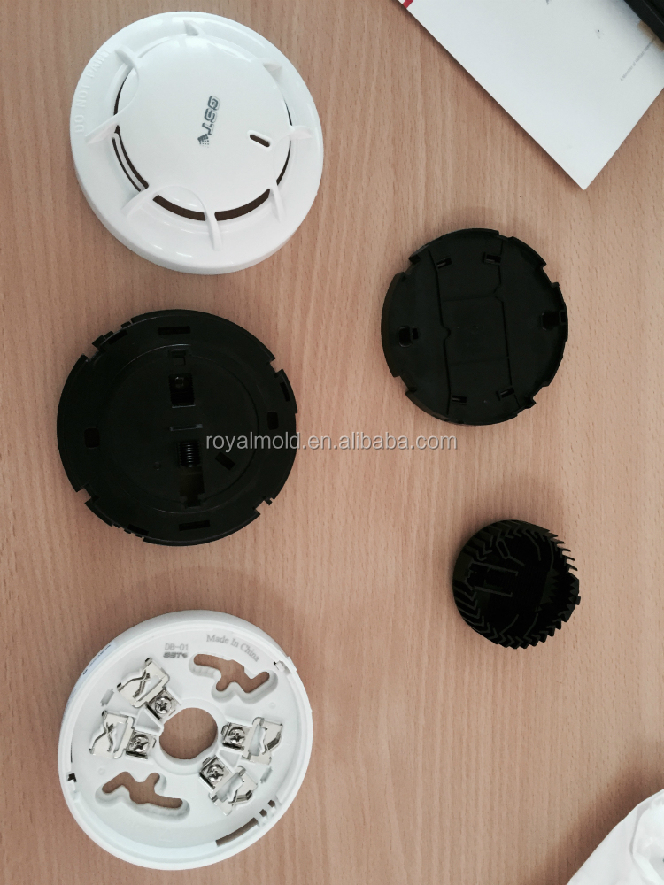 ABS material plastic injection mould for smoke detector parts