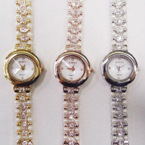 Reloj de mujer de cuarzo bisutería con brillantes pedrería perfecto regalo relojes para mujer