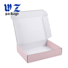 Custom high quality pink mail carton paper box with logo