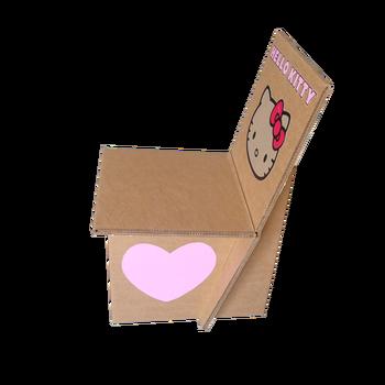 Cartón Plegables Plegable Papel Hola Silla De Hello Buy Corrugado Gatito silla Impresión Doble Con Silla sillas El Kitty UqpGzSMV