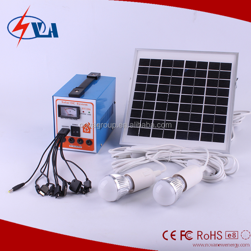 Portable Solar kits 6w solar home lighting system