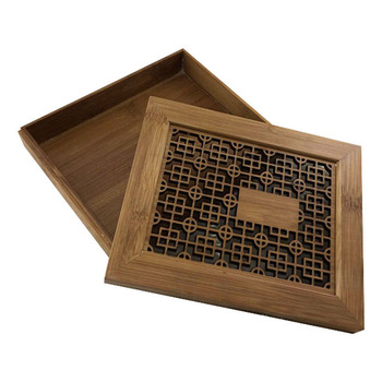 Natural handmade bamboo box, bento lunch bamboo box with lid for sushi