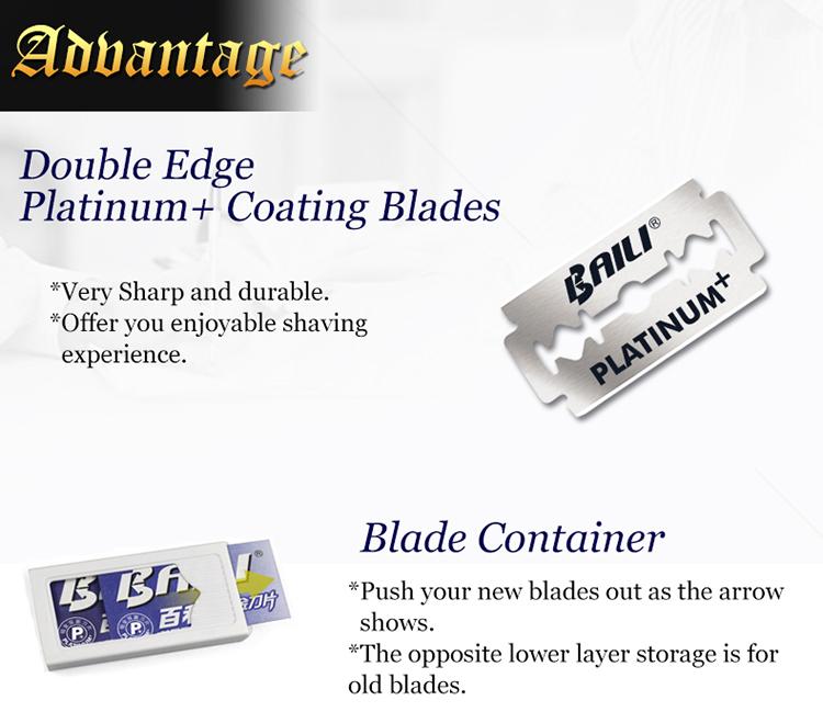 Kwaliteit Dubbele Rand Scheermes Met Roestvrij Stalen Dubbele Blade Scheermesjes