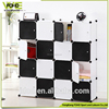DIY pp plastic 16 cube big size wardrobe organizer, double color wardrobe design furniture bedroom closet organizers