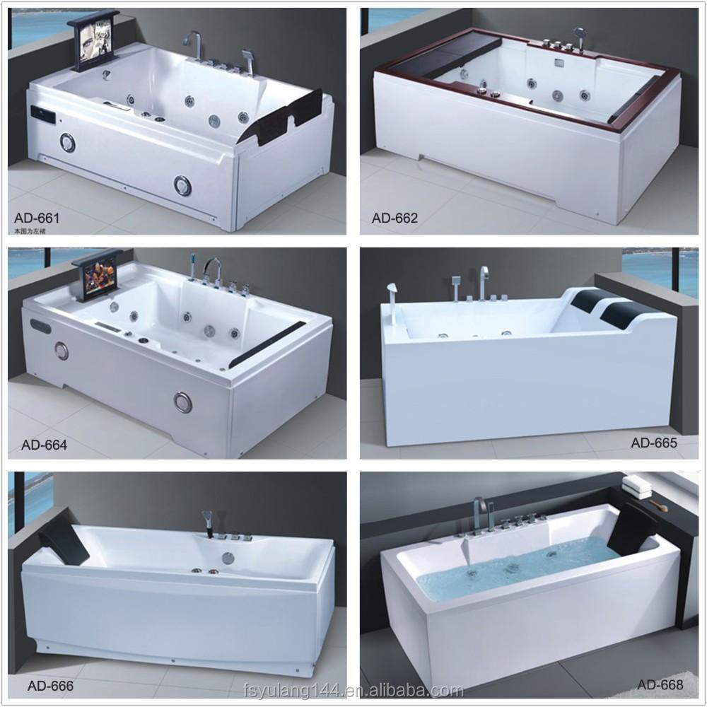 Ad-609 Big Large Sizes Glass Hot Tub 2 Person Jacuzzy Bathtub ...