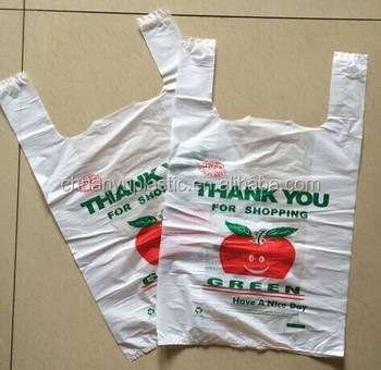 Hdpe plastic t shirt packaging bags on roll custom printed for Custom plastic t shirt bags