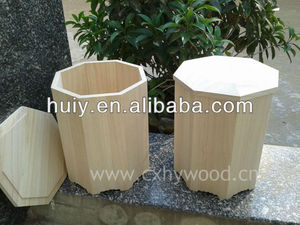 8 pointed wooden funeral paulownia ashes box/cinerary urn for casket