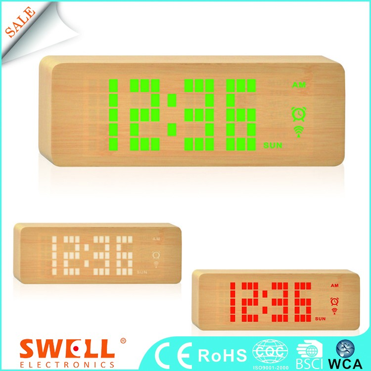 Best Ce Power Saving Function Plastic Digital Table Alarm Clock With Led