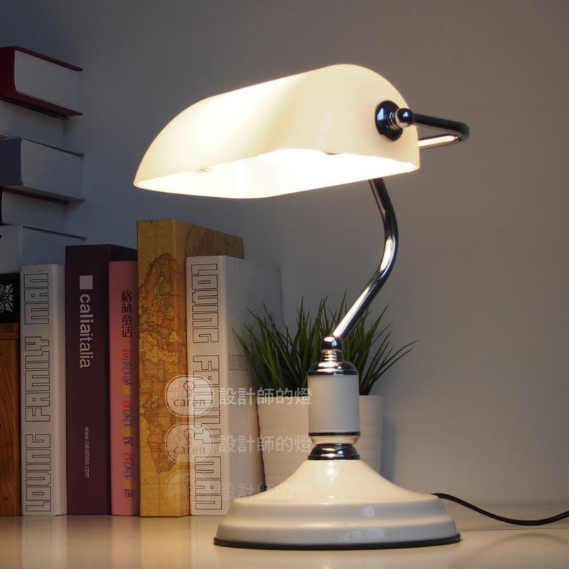 Modern European study white table lamp retro bedroom desk ...