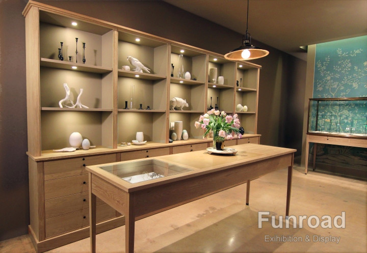 Design Fireproof MDF Jewellery Showroom Shop Display Wall Cabinet ...