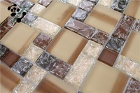 MB SMS17 Decorative Wall Tile Frosted Glass Mosaic Tile Crackle Glass Mosaic Kitchen Backsplash