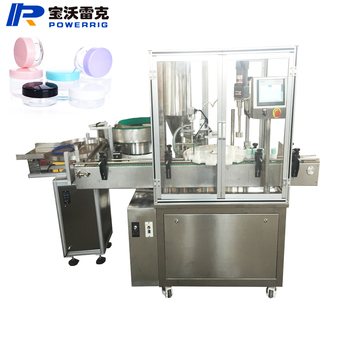 Cosmetics glass jar filling and capping machine for face cream