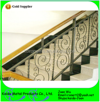 Ordinaire Morden Interior Wrought Iron/Metal Stairs Railings Design With  Scrolls/Panels Decoration