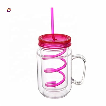 Free sample plastic soda bottle with straw