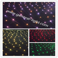 HI-COOL latest night club lighting customized led curtain display colorful RGB led star curtain
