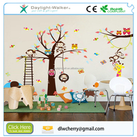 Zoo Cartoon Children Room Decal Removable Wall Sticker Kids