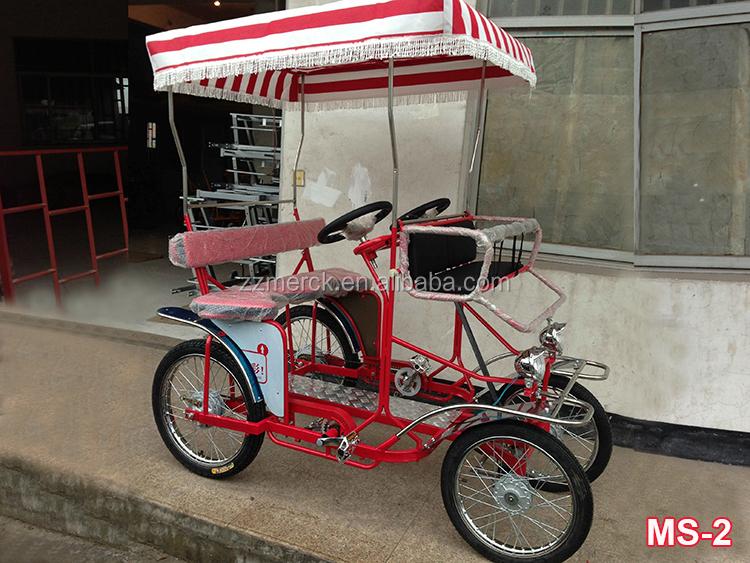 Park Use Leisure Pedal Surrey Bike Four Wheel 4 Person