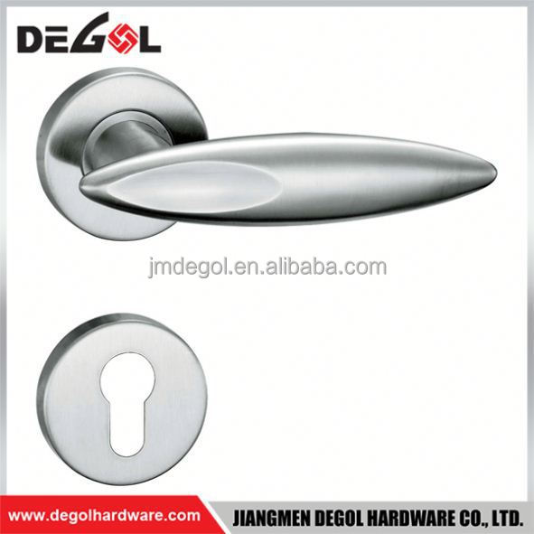 Top quality Luxury European style stainless steel heavy duty solid lever door handle in ru