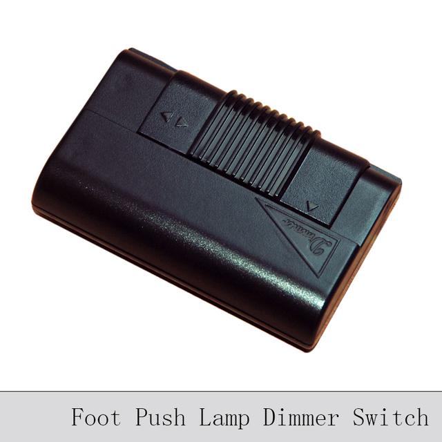 voet push lamp dimmen schakelaar zwart transparant floor lamp tafellamp dimmer diy verlichting. Black Bedroom Furniture Sets. Home Design Ideas