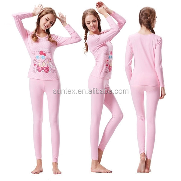 2015 New Arrival Cute Young Girls Thick Thermal Underwear - Buy ...