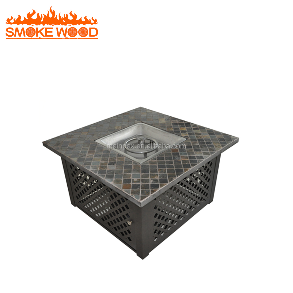 Best Choice Products Steel Fire Pit Outdoor Gas Fire Pit Table With Cover
