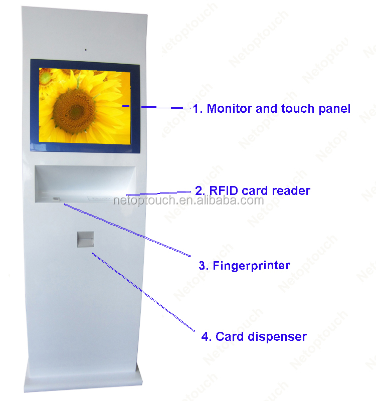 19 inch custom free standing all in one interactive ir touch kiosk cabinet enclosure on sale
