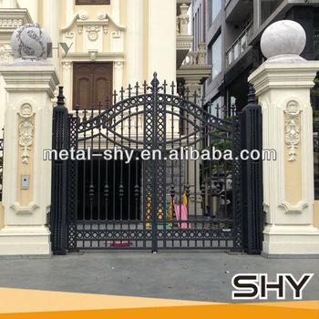 Hot Dip Galvanized Wrought Iron Main Gate,Iron Gates Design,Iron Main Gate
