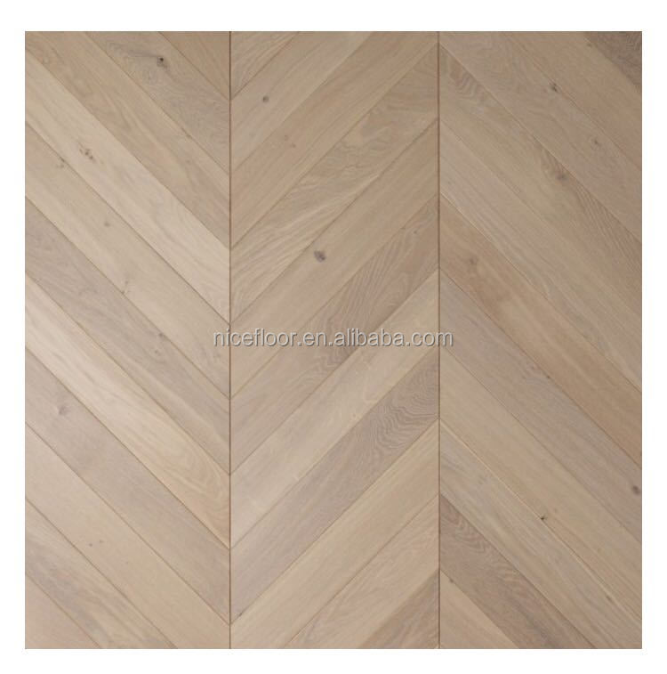 European Oak Chevron Parquet Engineered Wood Flooring