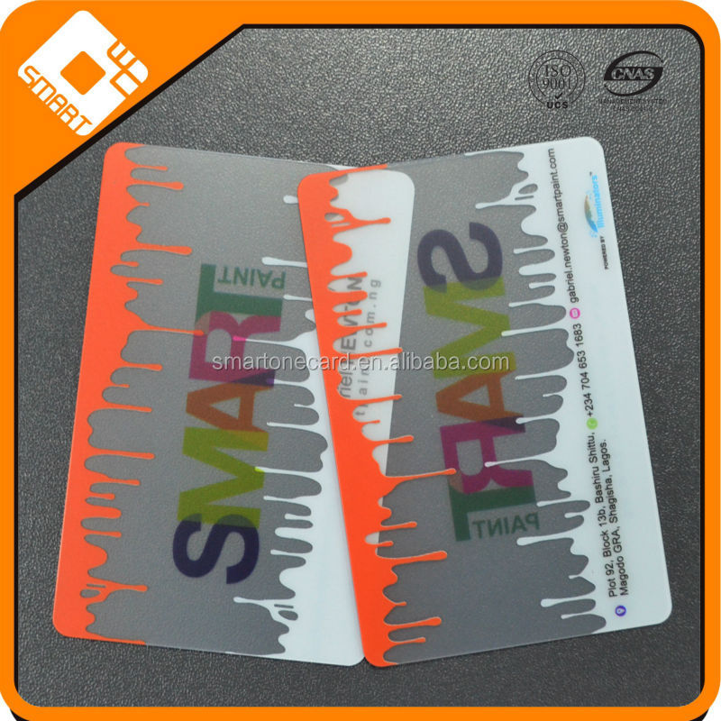 Cost effective CR80 transparent plastic business card